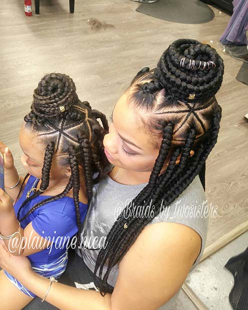 Cute Matching African Braids