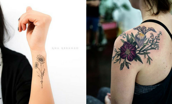 Beautiful Flower Tattoos for Women