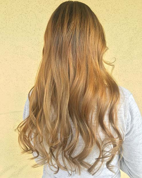 Honey Blonde Hair Color Idea