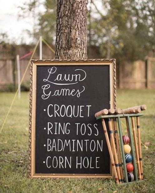 Lawn Games for an Outdoor Wedding
