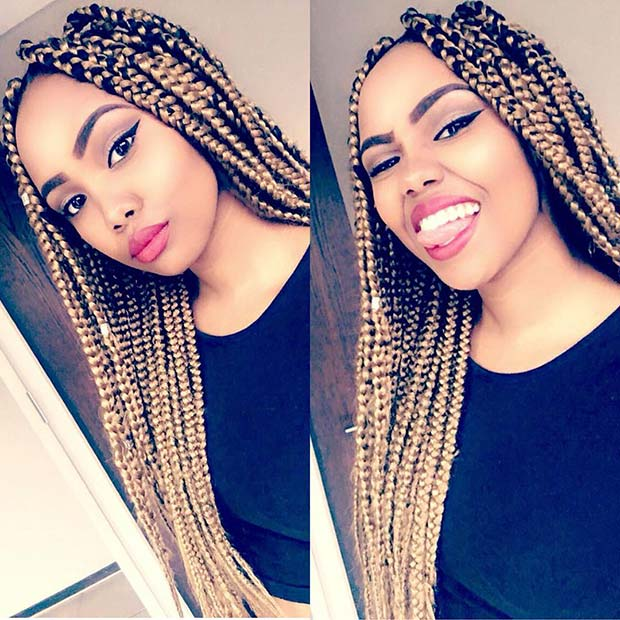 23 Cool Blonde Box Braids Hairstyles To Try Page 2 Of 2