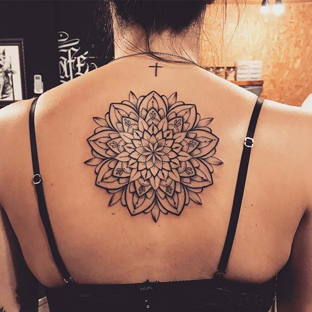 Big Mandala Back Tattoo