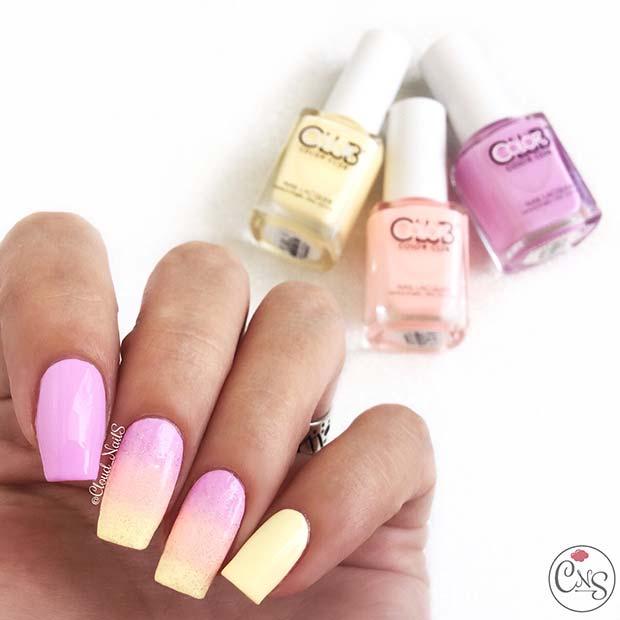 Pastel Neon Summer Nails