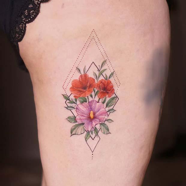 Floral Rib Tattoo Idea