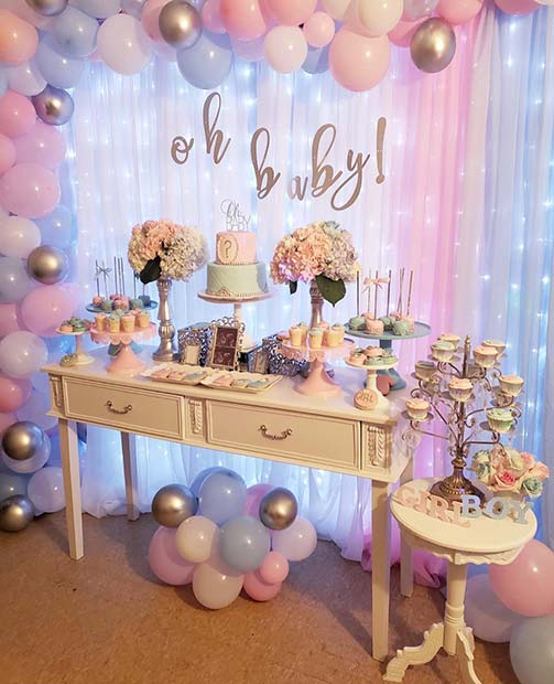 Gender Reveal Party Decor Idea