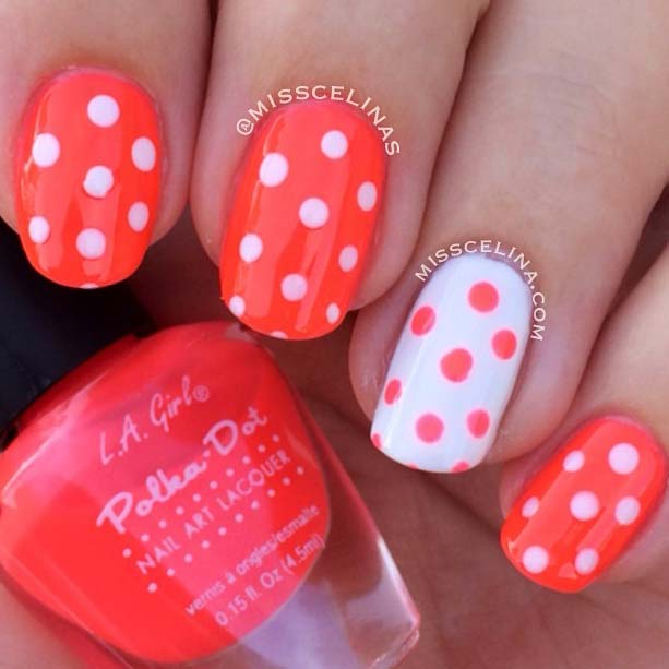 Pretty Polka Dot Nail Idea