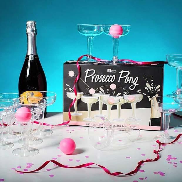Prosecco Pong Bachelorette Game