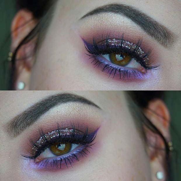 Purple Smokey Lower Lash Line