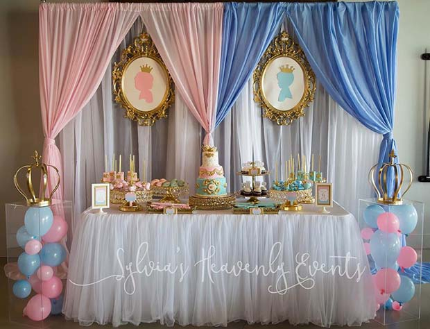 Royal Gender Reveal Party Idea