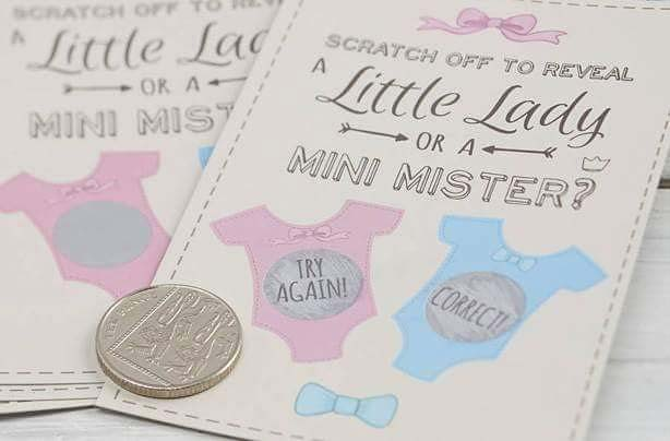 Scratch Card Game for a Gender Reveal Party