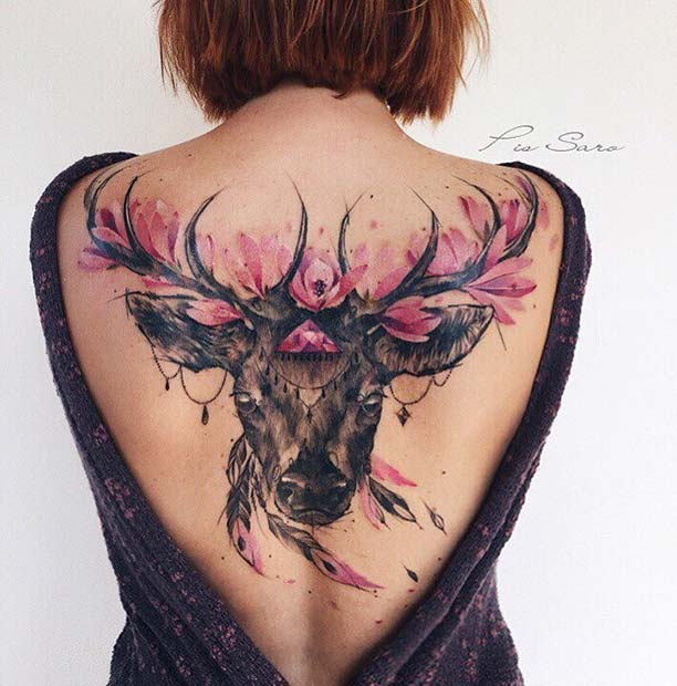 Statement Animal Tattoo Design for Back