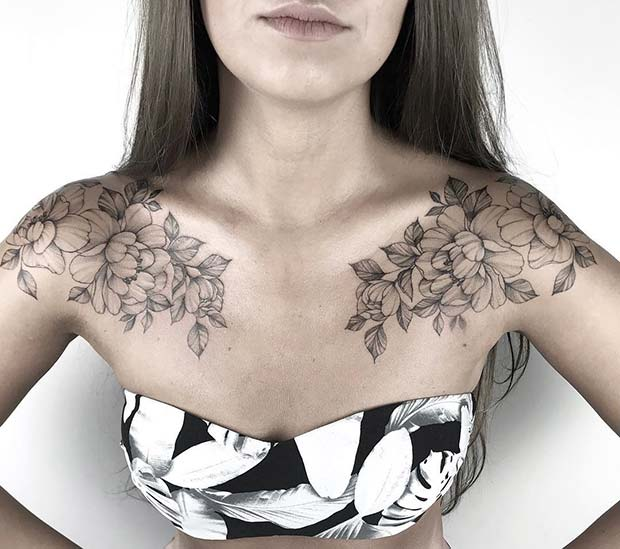 Flower Shoulder Tattoo