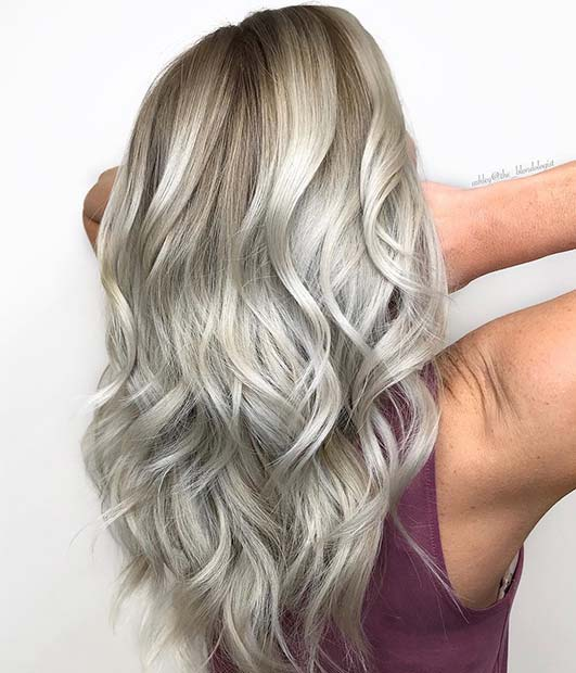 Icy Blonde Hair Color Idea
