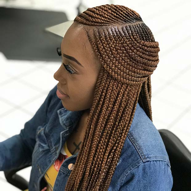 Stylish Layered African Braids