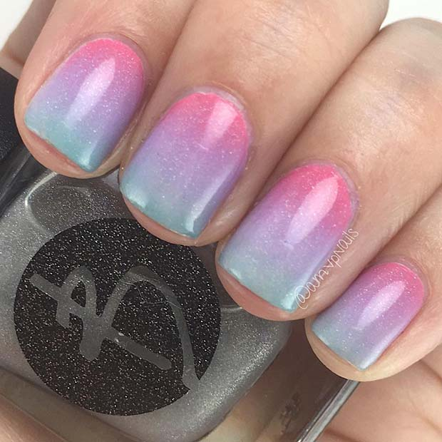 Summer Gradient Nails