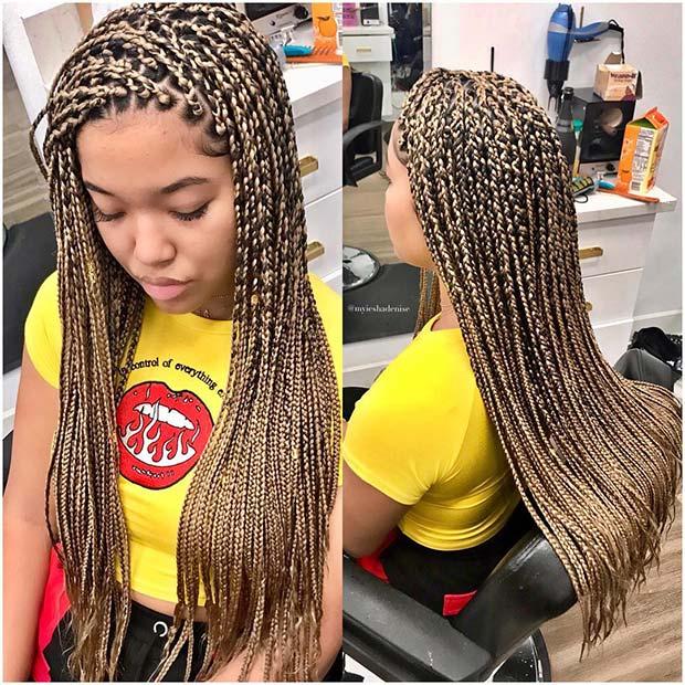 23 Cool Blonde Box Braids Hairstyles To Try Crazyforus