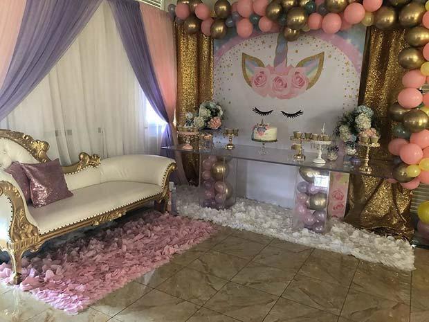 Unicorn Baby Shower Theme for Girls