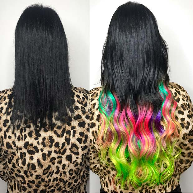 Vibrant Multi Color Hair Idea