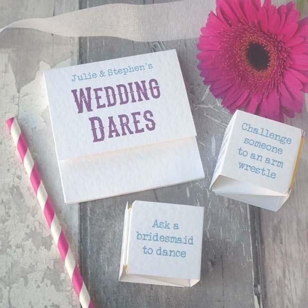 Wedding Dare - Bachelorette Game Idea