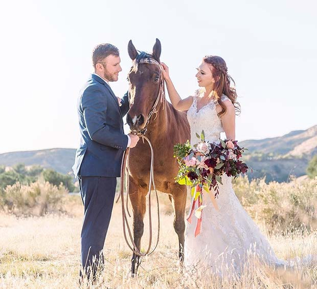 Wedding Photography with a Horse