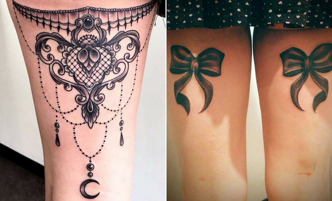 23 Back Of Thigh Tattoo Ideas For Women Stayglam