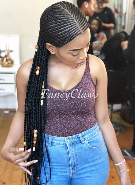 23 Cool Ways to Wear Feed In Cornrows   Page 2 of 2