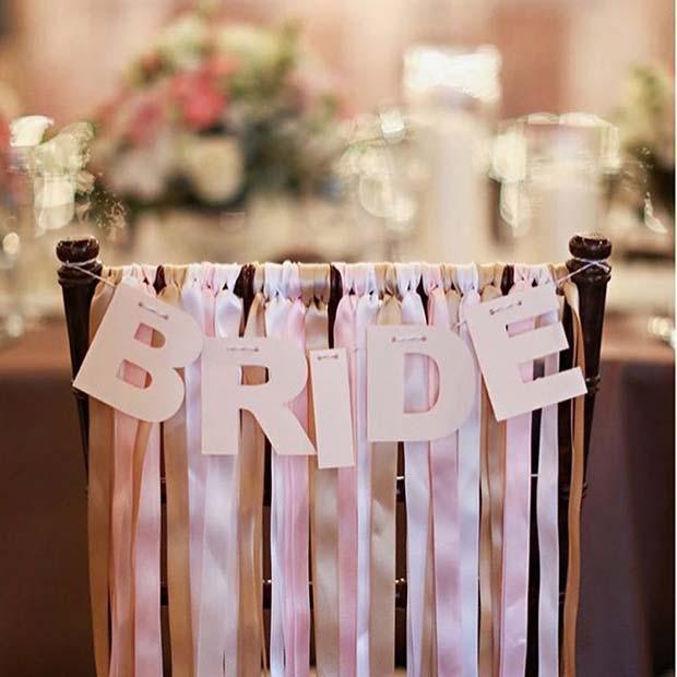 Simple & Easy Bride Chair Decoration