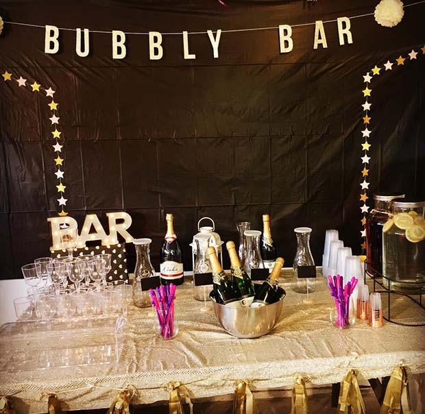 Bubbly Bar for a Bachelorette Party