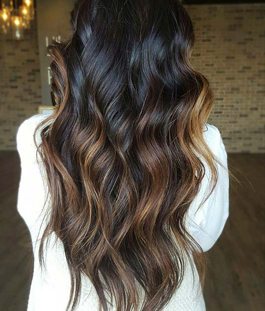 23 Different Ways To Rock Dark Brown Hair With Highlights