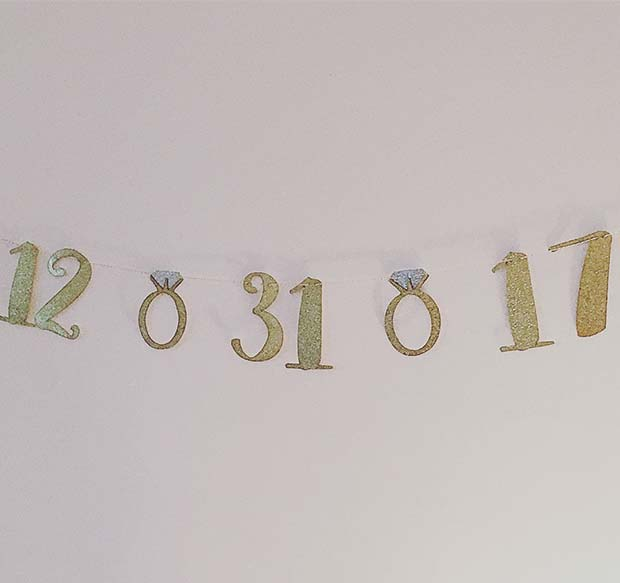 Wedding Date Banner - Bachelorette Party Decorations
