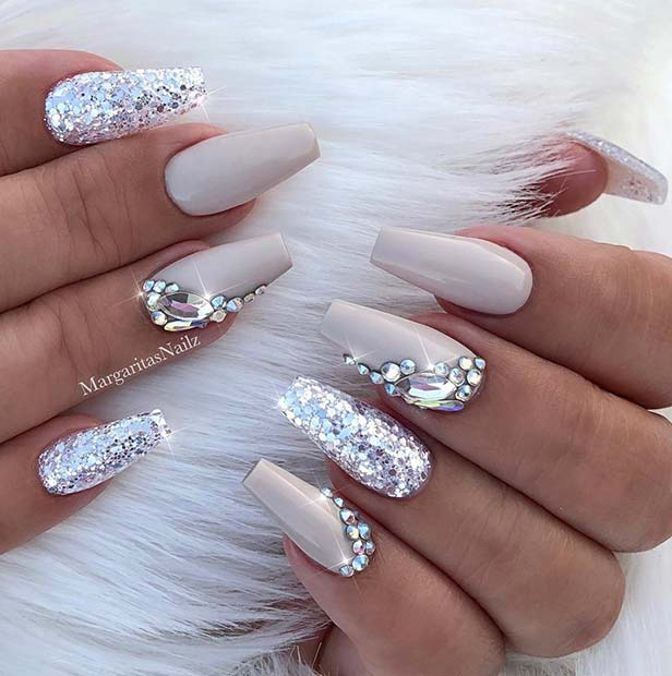 Nail Styles: 41 Elegant Nail Designs With Rhinestones