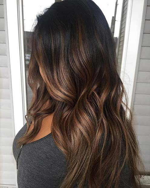 23 Different Ways To Rock Dark Brown Hair With Highlights Stayglam