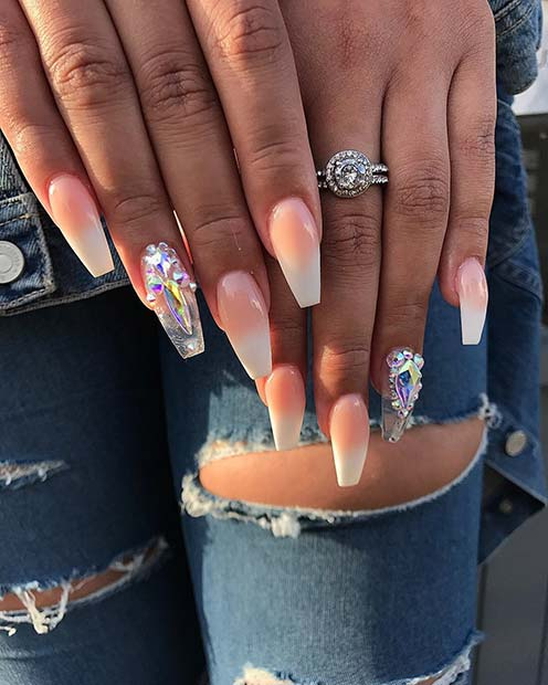 41 Elegant Nail Designs with Rhinestones | Page 2 of 4