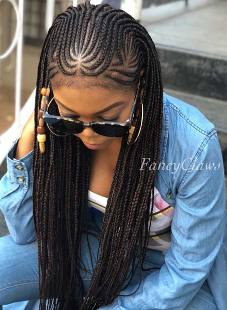43 Cool Ways To Wear Feed In Cornrows Page 2 Of 4 Stayglam