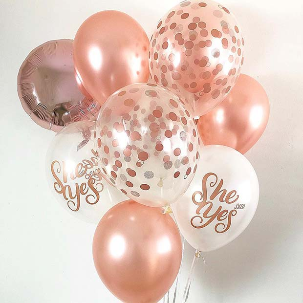 She Said Yes Party Balloons
