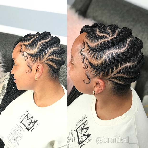 43 Cool Ways to Wear Feed In Cornrows