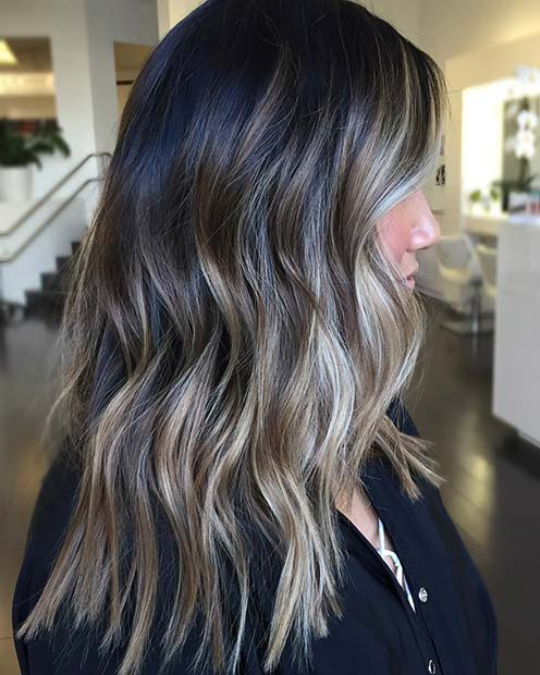 Summery, Icy Blonde Balayage