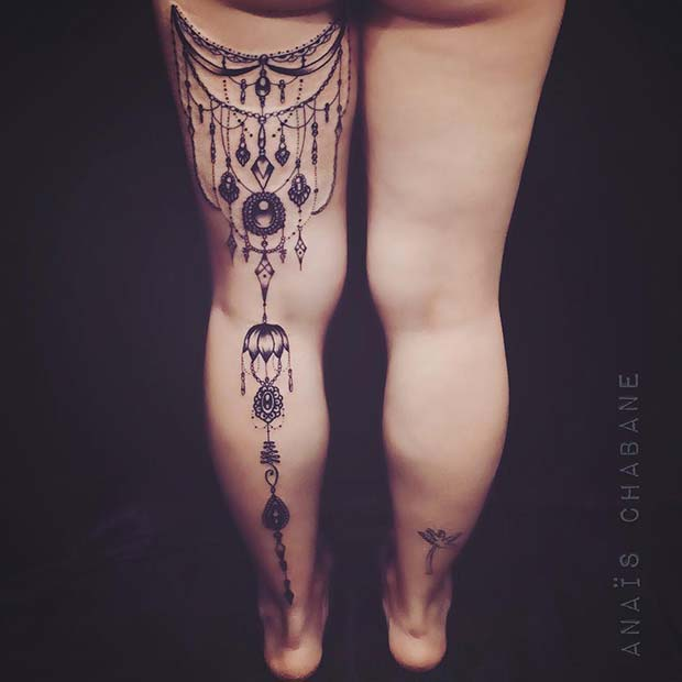 Bold, From Thigh to Foot Tattoo