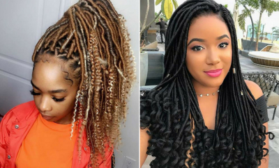 Ways to Pull Off Goddess Faux Locs