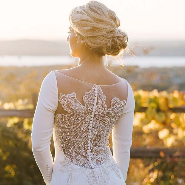 Wedding Gown with a Beautiful Back