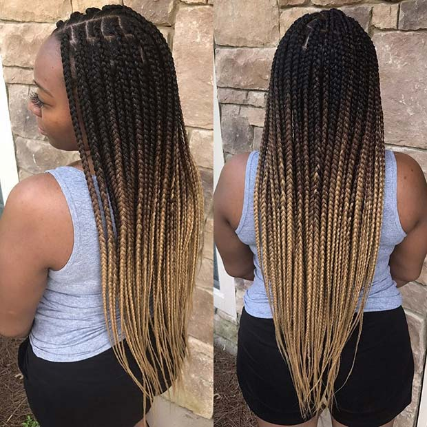 23 Pretty Box Braids With Color For Every Season Page 2