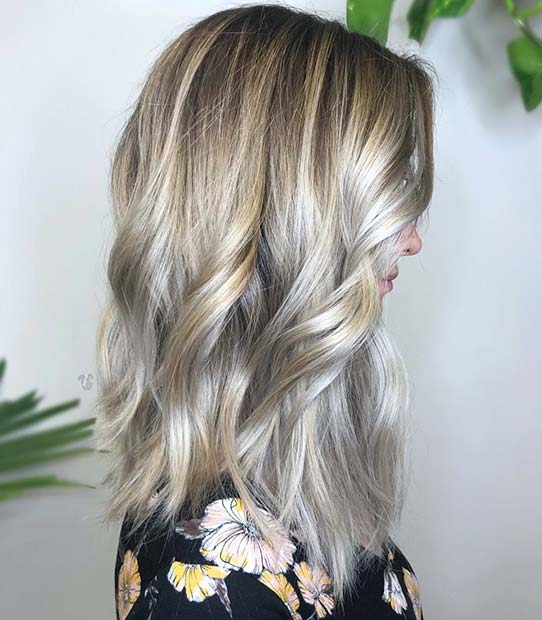 Blonde and Subtle Silver Highlights