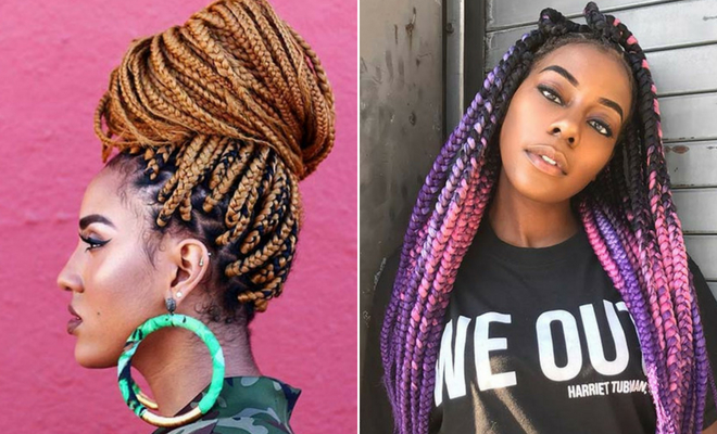 23 Pretty Box Braids With Color For Every Season Stayglam