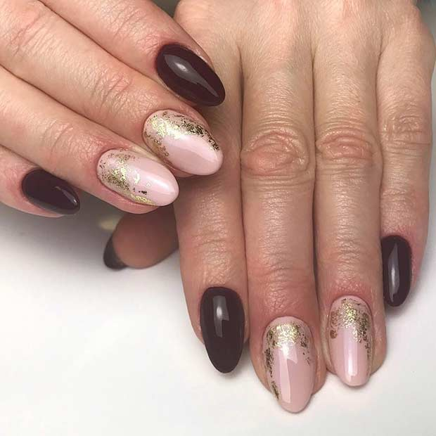 Pretty, Burgundy and Nude Nails