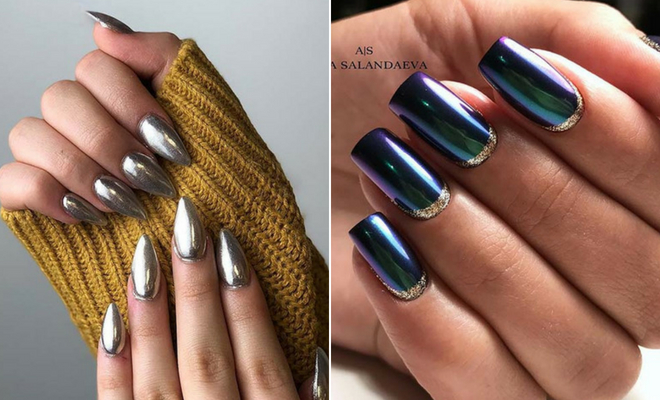 25 Cool Ways to Rock Chrome Nails | StayGlam