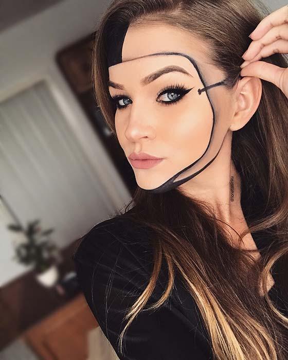Illusion Face Mask Idea for Halloween
