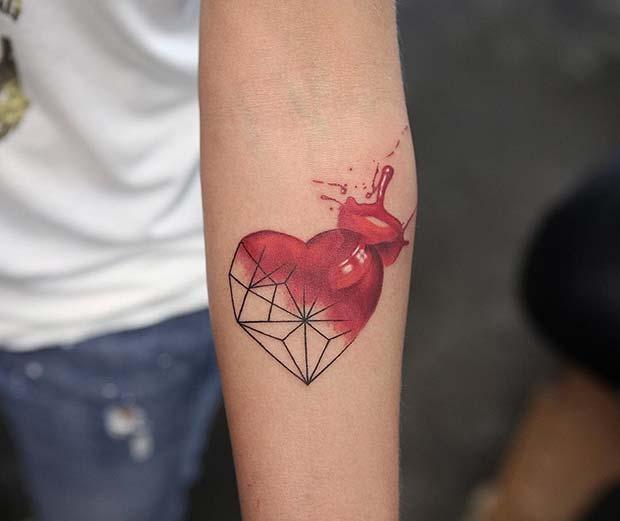Creative and Unique Heart Tattoo
