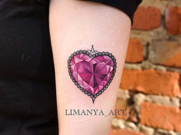Crystal Heart TattooIdea
