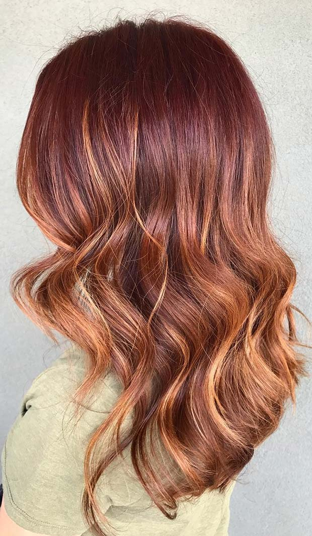 Dark Red to Copper Hair for Fall