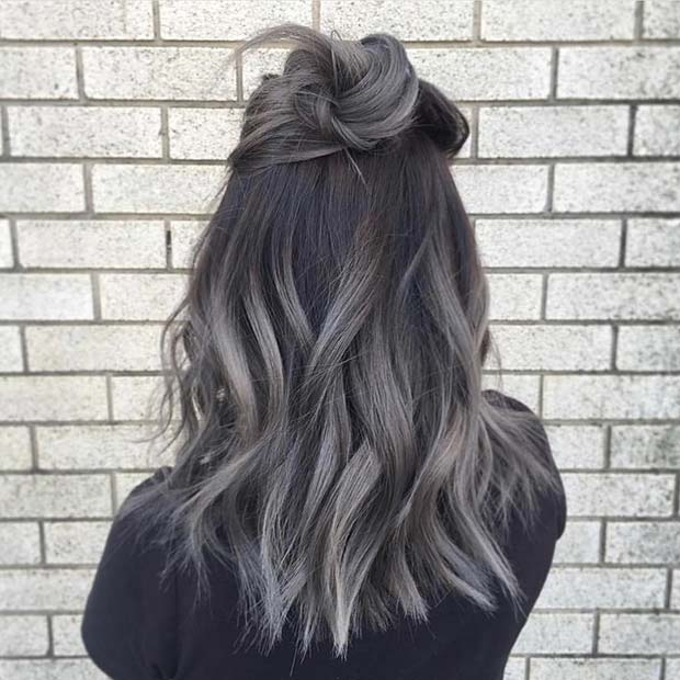 Dark Silver Ombre Hair